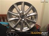 "Set of 4 18"" Alloy wheels to suit Mazda"