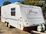 #1962 Jayco 19' Heritage R/out awning & new shade wall