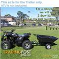ELSTAR ATR43 ATV trailer 1200x950x300 Garden wheel barrow