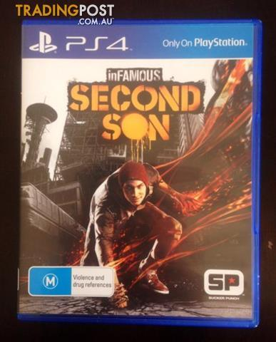 Ps4-PRO-ENHANCED-Infamous-Second-Son-Excellent-Condition-25-or-Swap