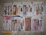 DRESSMAKING PATTERNS, WOMENS, GIRLS, KIDS, COSTUMES -- REDUCED