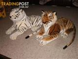 LARGE TOY ANIMALS -- RED TIGER & WHITE TIGER