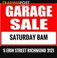 Massive Garage Sale  5 Erin Street Richmond Vic 3121