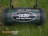 OZITO 300MM PUSH REEL MOWER HAND LAWN MOVER GRASS CUTTER CYLINDRICAL MOWER