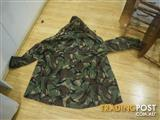 ARMY MILITARY CAMOUFLAGE JACKET NZ ORIGIN 100% WOOL HOODIE