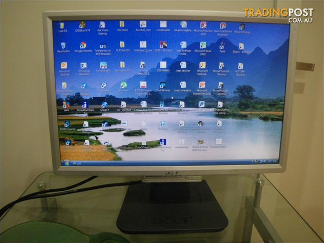 "ACER AL1916WS 19"" LCD MONITOR COMPUTER SCREEN LAPTOP PC MONITOR"
