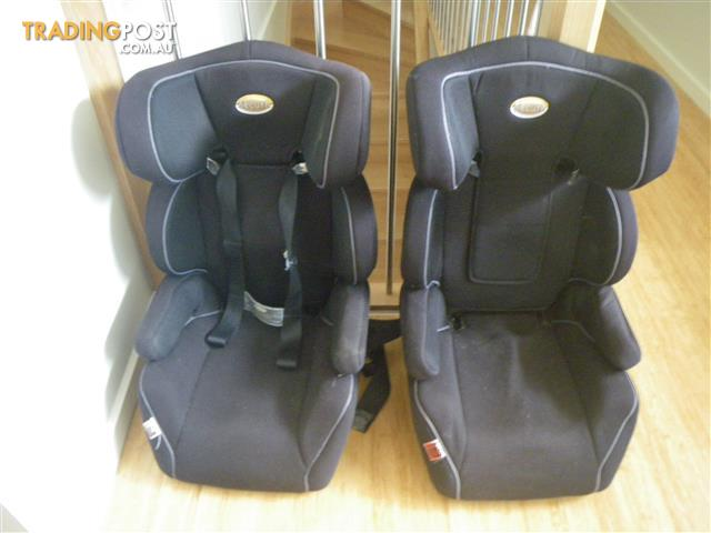 TWO SECURE BOOSTER CAR SEATS SECURE VARIO CS54 INFASECURE & HARNESS