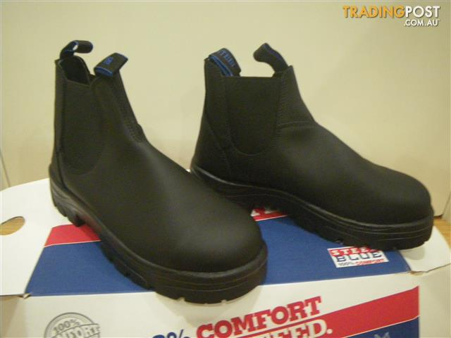 NEW STEEL CAPPED SAFETY BOOTS STEELBLUE HOBART BLACK SIZE 9