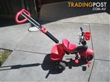 SMART TRIKE 1560511 DELUXE BABY TO TODDLER TRICYCLE RED MALVERN EAST MELBOURNE