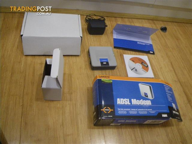 CISCO LINKSYS ADSL 2/2+ MODEM AM300 ROUTER DSL ETHERNET INTERNET COMPUTER PARTS COMPONENTS