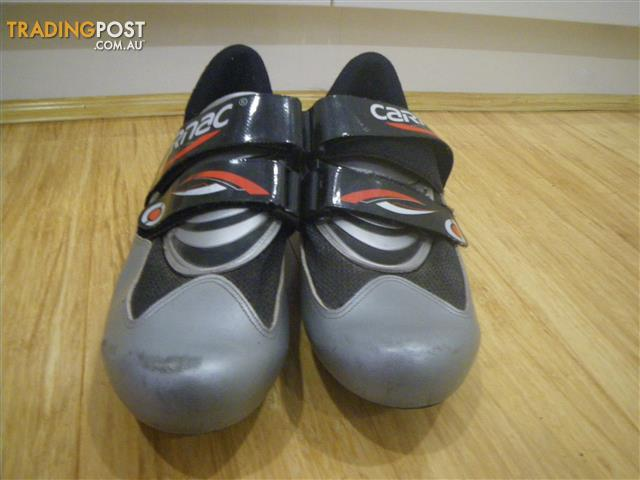 SILVER CARNAC BIKE SHOES CYCLING CLEATS CLIP ON PEDAL BICYCLE FOOTWEAR