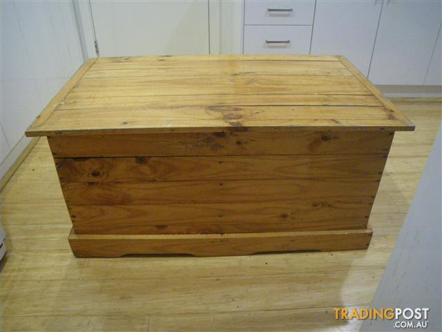 Shabby Chic Timber Chest Blanket Box Trunk