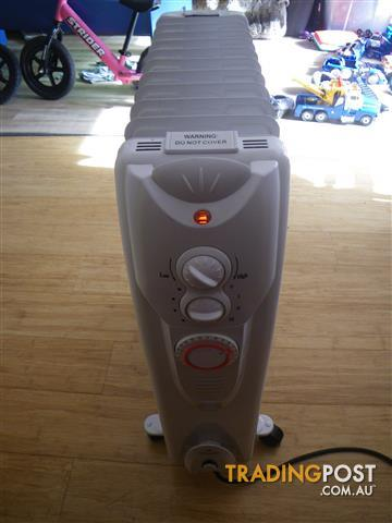 ABODE APPLIANCES 11FIN OIL COLUMN RADIANT HEATER PORTABLE ROOM HEATING 2400WATT WITH 24 HOUR TIMER