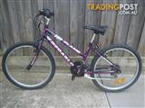 "DECARLO FLAME MOUNTAIN BICYCLE 15 SPEED BIKE 24"" TYRES STEP THROUGH FRAME"