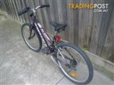 "DECARLO FLAME MOUNTAIN BICYCLE 15 SPEED BIKE 24"" TYRES STEP THROUGH FRAME"