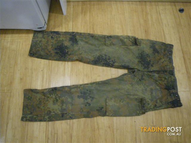 ARMY MILITARY CAMOUFLAGE TROUSERS PANTS GERMAN ORIGIN