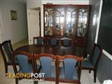 DINING TABLE AND MATCHING WALL UNIT