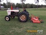 David Brown 885 and Howard finishing mower