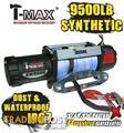 NEW TMAX 9500LB POWER SERIES 12V WINCH TMAHEW9500PR T-MAX ROPE WATER PROOF