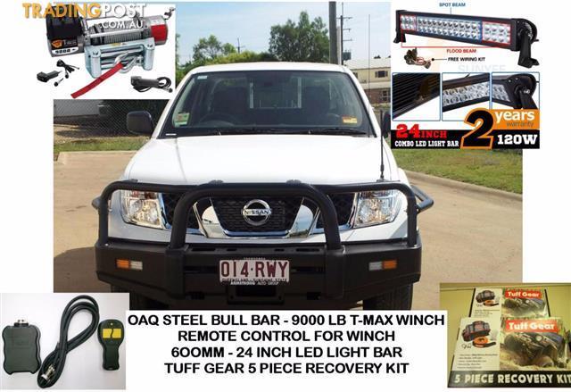 Navara d40 bull bar combo includes bullbar 9000lb tmax winch navara d40 bull bar combo includes bullbar 9000lb tmax winch remote led light bar mozeypictures Images