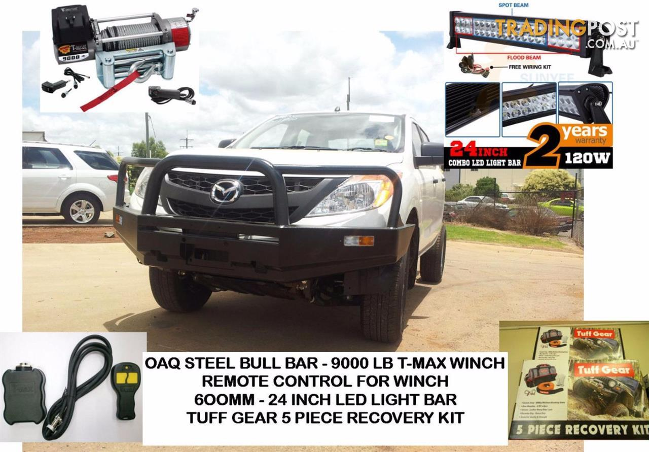 Mazda Bt50 Bull Bar Combo Includes Bullbar 9000lb Tmax Winch Remote T Max Wiring Diagram Kippa Ring Qld