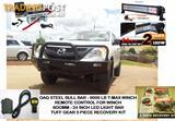 MAZDA BT50 BULL BAR COMBO, INCLUDES: BULLBAR 9000LB TMAX WINCH REMOTE LED LIGHT BAR RECOVERY GEAR COMBO