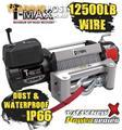 NEW TMAX 12500LB POWER SERIES 12V WINCH TMAHEW12500 T-MAX WIRE WATER PROOF 4X4