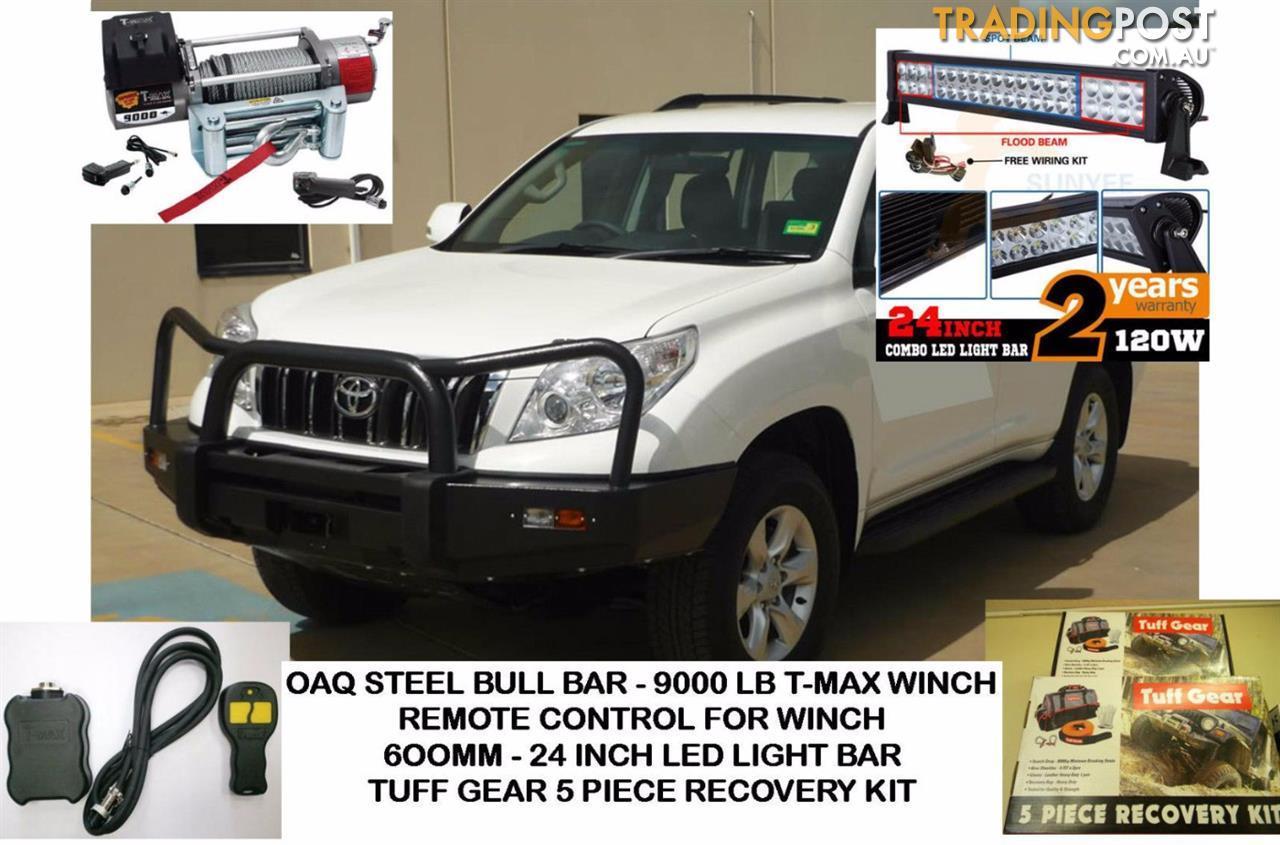 Prado 150 Bull Bar Combo Includes Bullbar 9000lb Tmax Winch Remote T Max Wiring Diagram Kippa Ring Qld