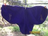 Purple saddle cover