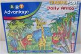 Art Advantage Jolly Africa DIY 31 3D Puzzles & 12 Coloured Marker