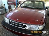 saab 900s convertible 11/1996 red 179km 2.3 engine  all parts