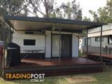 Onsite annual holiday caravan with aluminum annex Echuca