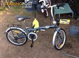 Crane fold up bike good condition