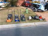 Lawn mowers 70'edger 60 snipper 60 blower 60 all run great