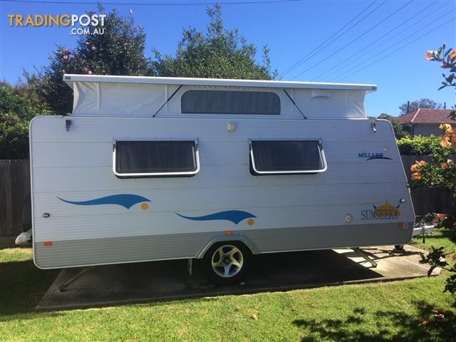 2008 Millard Sunseeka Pop Top Caravan