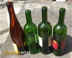Assorted glass bottles