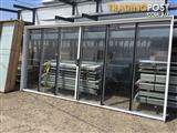 Brand New Aluminium Sliding Stacker Door 2100h x 4266w