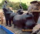 Hippo Statue, Terracotta