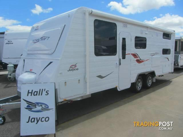 Amazing The Caravan Is A Jayco Starcraft, White With A Blue Trim, Single Axle, Single White Bull Bar At The Back, A Spare Wheel Mounted On The Back And Was Bought At Halls Jayco In Mildura With The Registration Number V01302 It Would Be