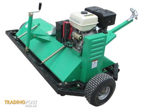 Petrol 13hp Electric Start Self Powered Flail Mower Tow