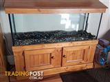 4ft cold/tropical fish tank and cabinet complete