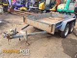 Tandem plant & box steel trailer