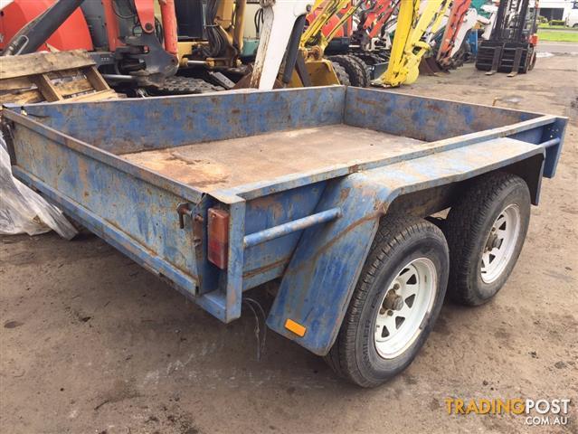 Tandem plant & box steel trailer