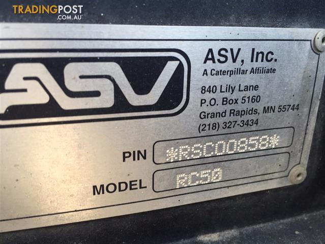 Posi Track Asv Rc50 Multi Terrain Loader
