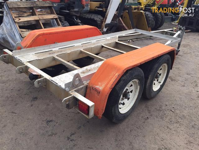 Auswide Allumnium Tandem axle Plant trailer without ramp
