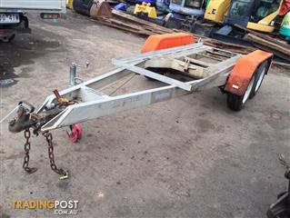 Auswide Allumnium Tandem axle Plant trailer without ramp