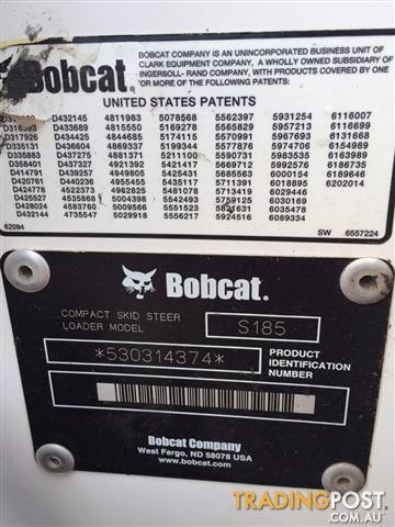 Bobcat S185 Skid Steer Loader