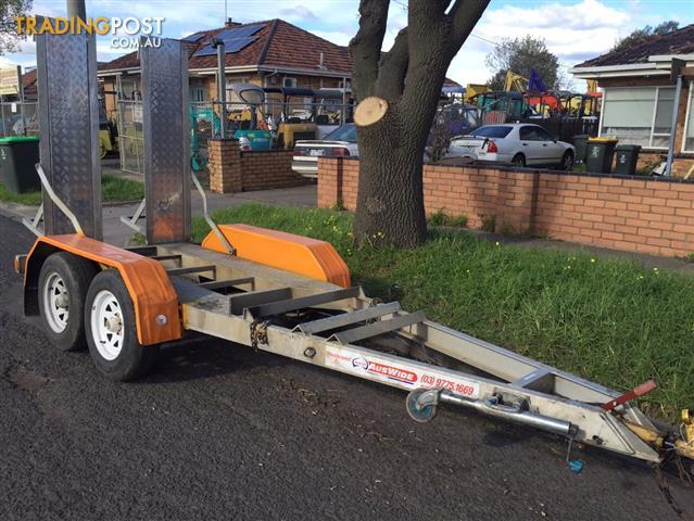 Auswide Allumnium Tandem axle Plant trailer with ramps