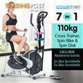 Powertrain 7-in-1 Elliptical cross trainer with Weights and Twist Disc