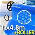 Pool Cover and Roller 11 x 4.8m